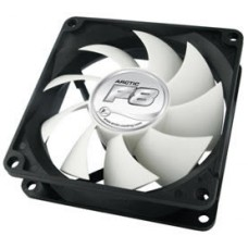 Arctic Cooling F8 Temperature Controlled Case Fan, Accurate Case Temperature Detection, 500-2000 RPM, 31 CFM/52.7 m3/h, 0.3 Sone AFACO-080T0-GBA01