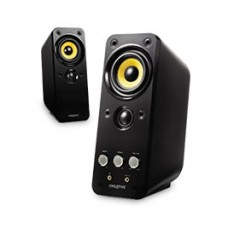 Creative GigaWorks T20 Series II Speakers, 2 channel, Power Rating 28W RMS, Speaker Power 14W RMS per channel, Headphone-out, Aux In (Black) 51MF1610AA010
